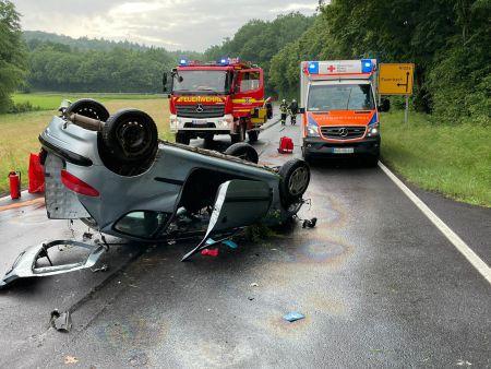 +++ Einsatz Nr: 56 - Verkehrsunfall eingeklemmte Person +++